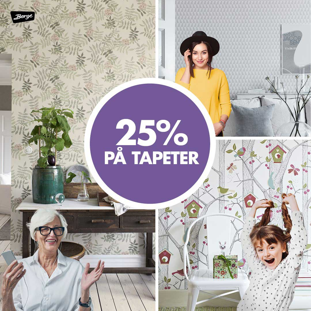 Tilbud på tapet hos Happy Homes