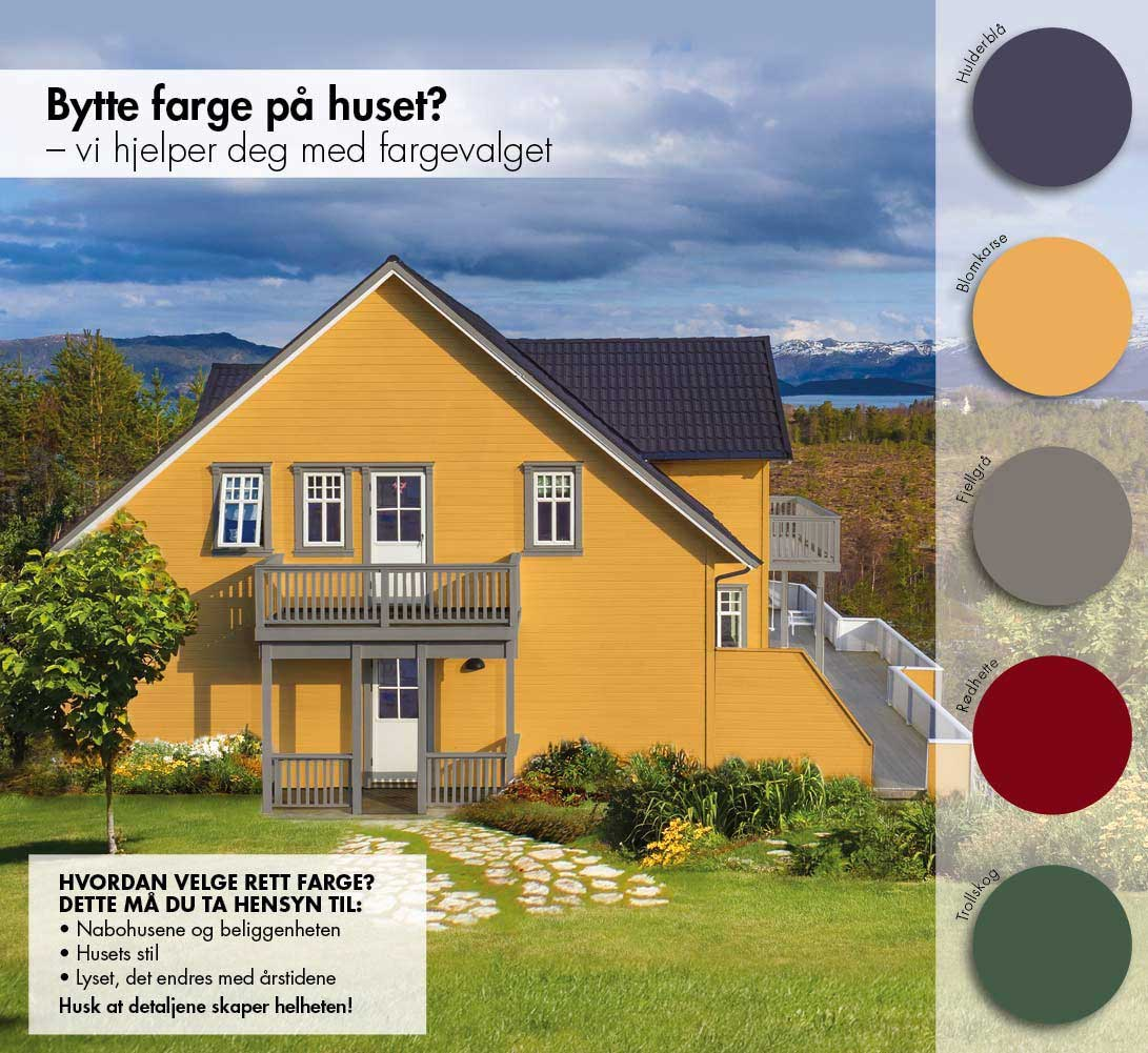 Happy Homes hva slag farge skal du ha på huset?