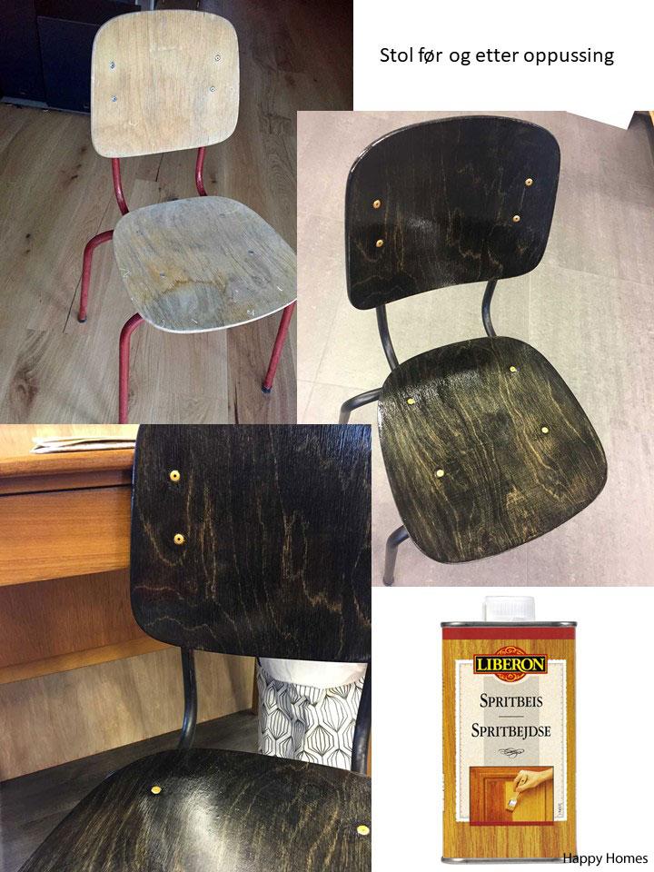 Oppussing av gammel slitt stol