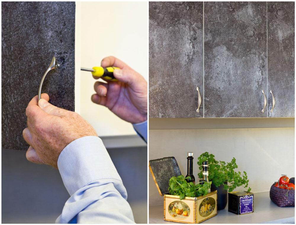 Nytt kjøkken med kontaktplast/designfolie