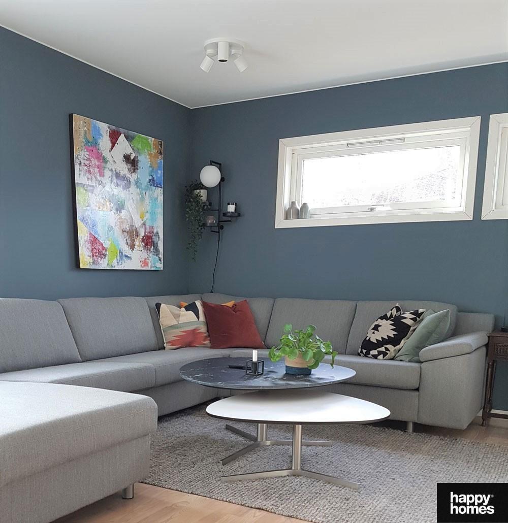 Jotun Lady- st.pauls blue-inspirasjon stue med happy homes