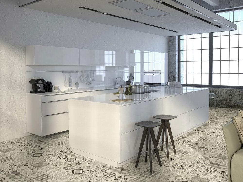 vinylbelegg på kjøkkengulvet-happyhomes